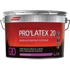 Parade E20 Pro'latex 20 краска интерьерная латексная