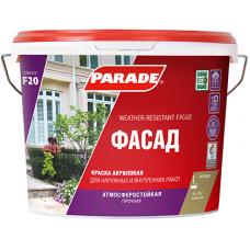 Краска фасадная PARADE F20 Фасад база А