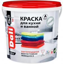 Краска Dali для кухни и ванной бактерицидная влагостойкая моющаяся