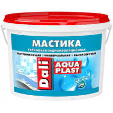 Dali Aquaplast гидроизоляционная мастика быстросохнущая универсальная