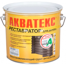 Акватекс Реставратор кроющий грунт-антисептик для древесины