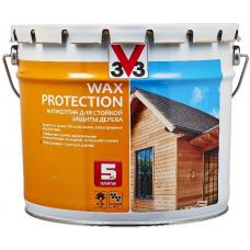 V33 Wax Protection антисептик на алкидной основе для стойкой защиты дерева с добавлением воска