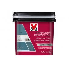 Краска V33 RENOVATION PERFECTION для стен и мебели на кухне