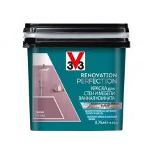 Краска V33 RENOVATION PERFECTION  для стен и мебели в ванной комнате.